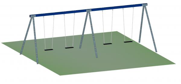 4-Sitzer-Schaukel, Stahl, verzinkt