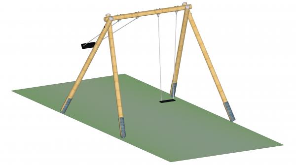 2-Sitzer-Schaukel, Rundholz, H=300 cm