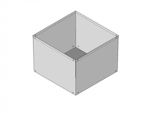 Einsatz aus Stahlblech für Pflanzcontainer 100 x 100 x 65 cm (55 0000 2020)