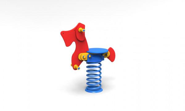 Feder-Hund aus PE-Platten
