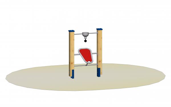 Sandladestation mit Standpfosten