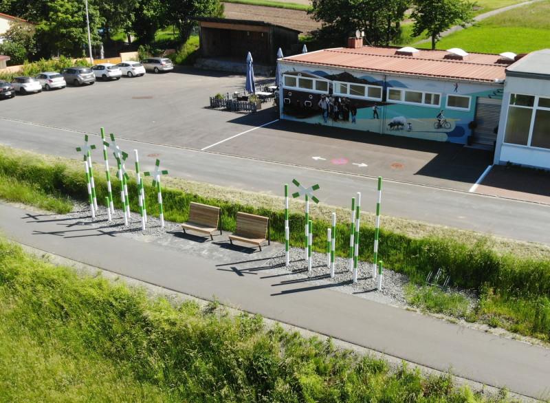 Rhönexpress, Bahn-Radweg