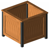 Pflanzcontainer 120 x 120 cm, Höhe 105 cm