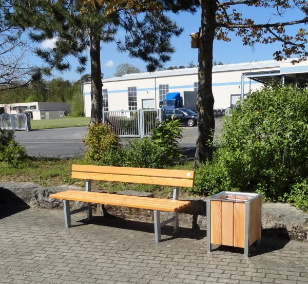 """Bank """"Weser"""" mit Lehne Sitzhöhe 45 cm"""