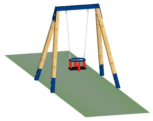 1-Sitzer-Schaukel für Kleinkinder