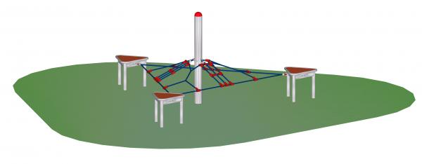 """Bewegungsbausteine-Set """"Dreiecknetz"""" mit Mittelpfosten"""