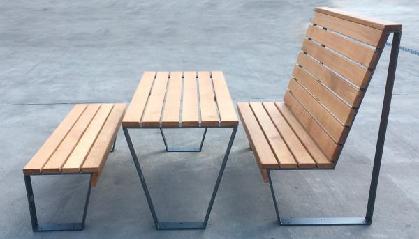 Sitzgruppe Holzklasse