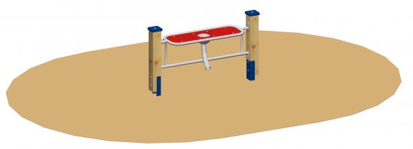 Sandspieltheke 100 mit Sandschütte und Standpfosten