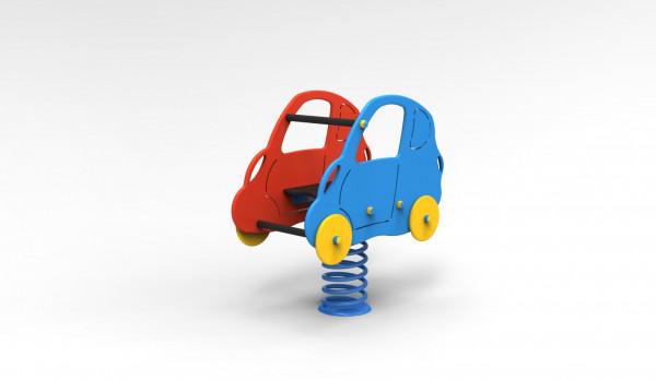 Feder-Auto aus PE-Platten