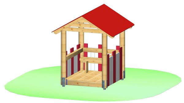 """Spielhaus """"Schwedenhaus mit Sitzbank"""""""
